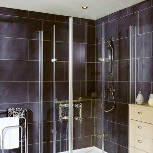 Paroi de douche repliable pleine hauteur