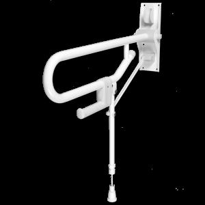 Barre d'appui rabattable avec pied réglable