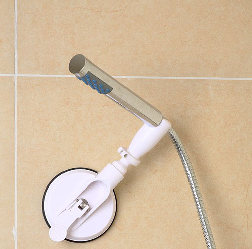 Support de douchette à ventouse pour seniors