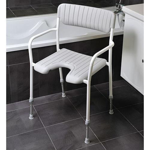 chaise de douche kulan pour personnes g es sweetdom. Black Bedroom Furniture Sets. Home Design Ideas