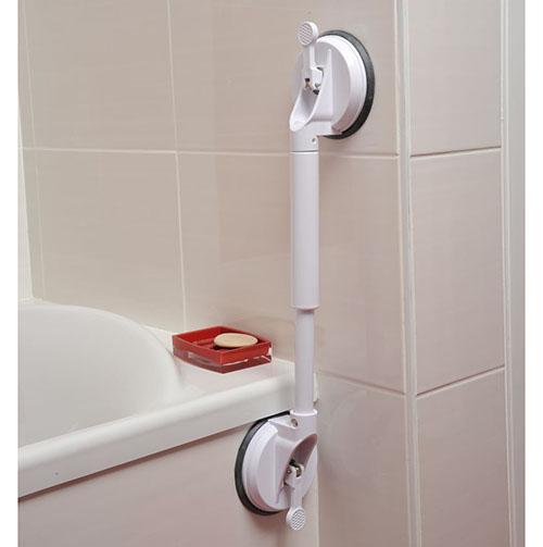 barre d 39 appui droite ventouses strong 3 dimensions pmr et seniors sweetdom. Black Bedroom Furniture Sets. Home Design Ideas