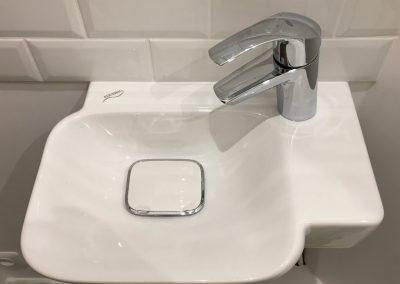 Modernisation d'une «mini» salle de bains