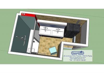 Nouvelle configuration et salle de bains ergonomique