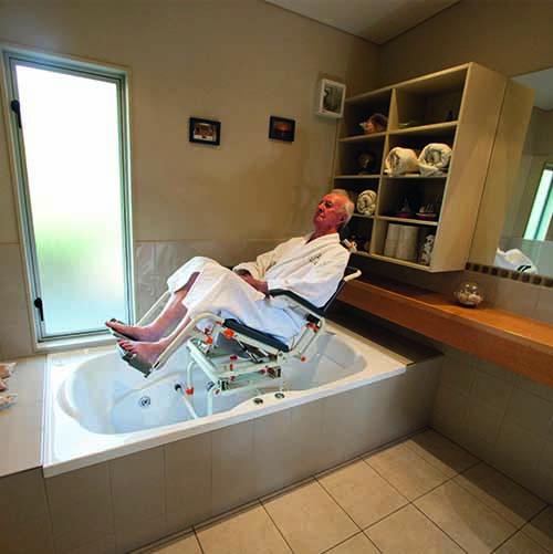 Accès au bain sur rails Showerbuddy